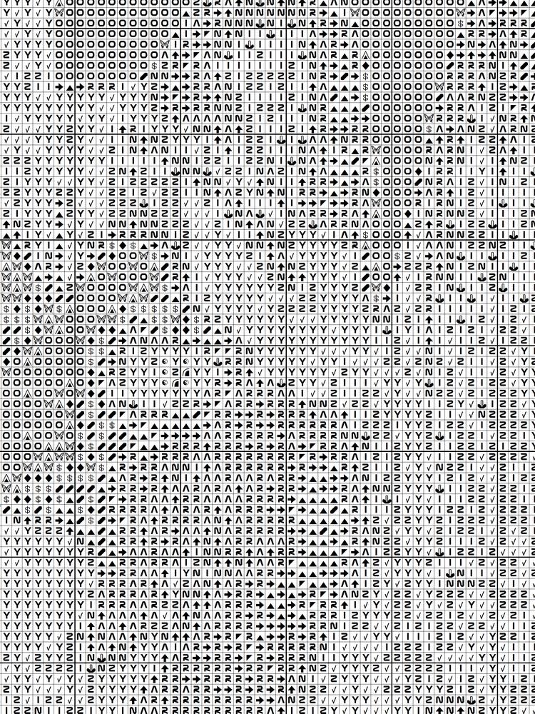 черно-белую схему вышивки