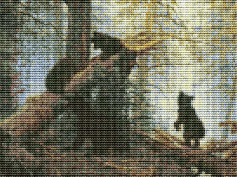 60 - Утро в сосновом лесу